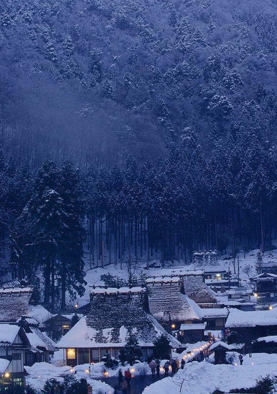 美山かやぶきの里-雪景色
